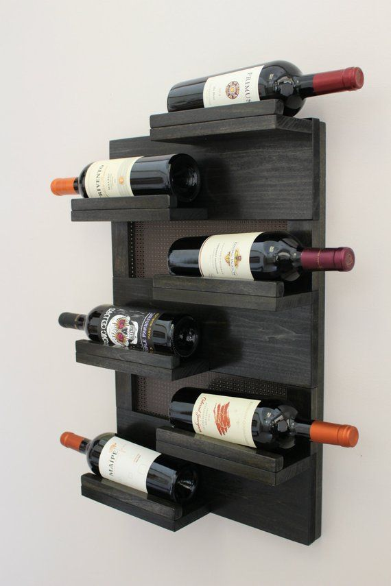 Wall Mounted Wine Rack Handmade Wine Rack Custom Wine Rack Bottle