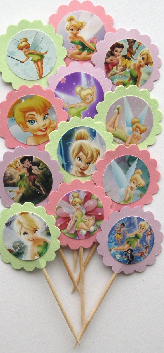 Tinkerbell Cupcake Toppers/Party Picks  by CakeToppersAndBeyond, $5.00