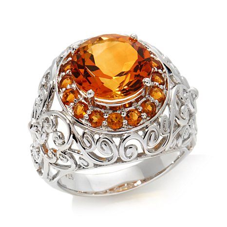 "Colleen Lopez ""Fine Wine"" 6ct Madeira Citrine Ring"