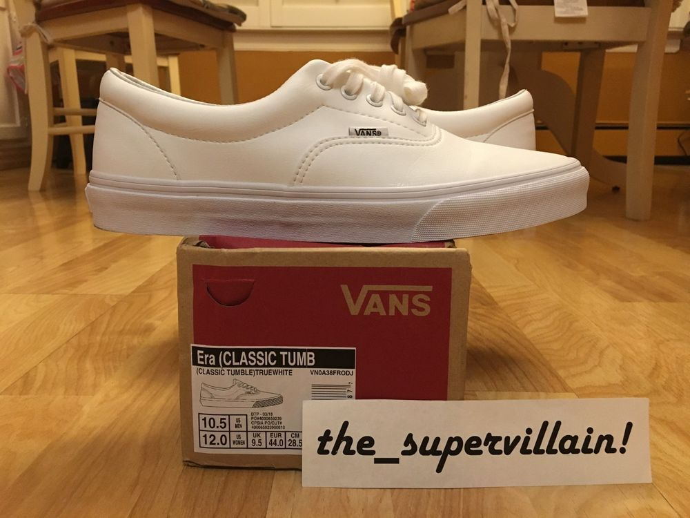 ea988a5b067 Unisex Vans Era Classic Tumble Retro Sneakers Leather True White Men's Sz.  10.5 #fashion #clothing #shoes #accessories #mensshoes #athleticshoes (ebay  link)