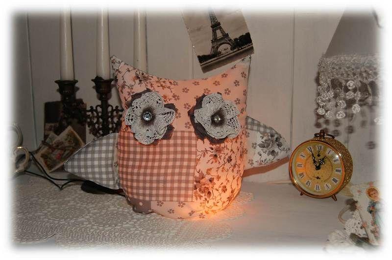 Eule Lampe Licht Lichterkette Shabby Landhaus von The Little Shabby ...