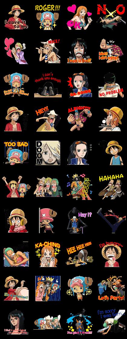 One Piece Straw Hat Crew Sticker For Line Whatsapp Telegram Android Iphone Ios Line Sticker Sticker Set Telegram Stickers