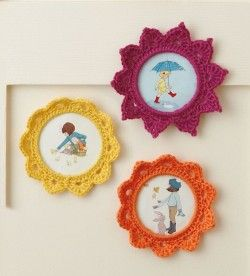 crochet picture frame  see more ideas http://lomets.com/pin/crochet-picture-frame/