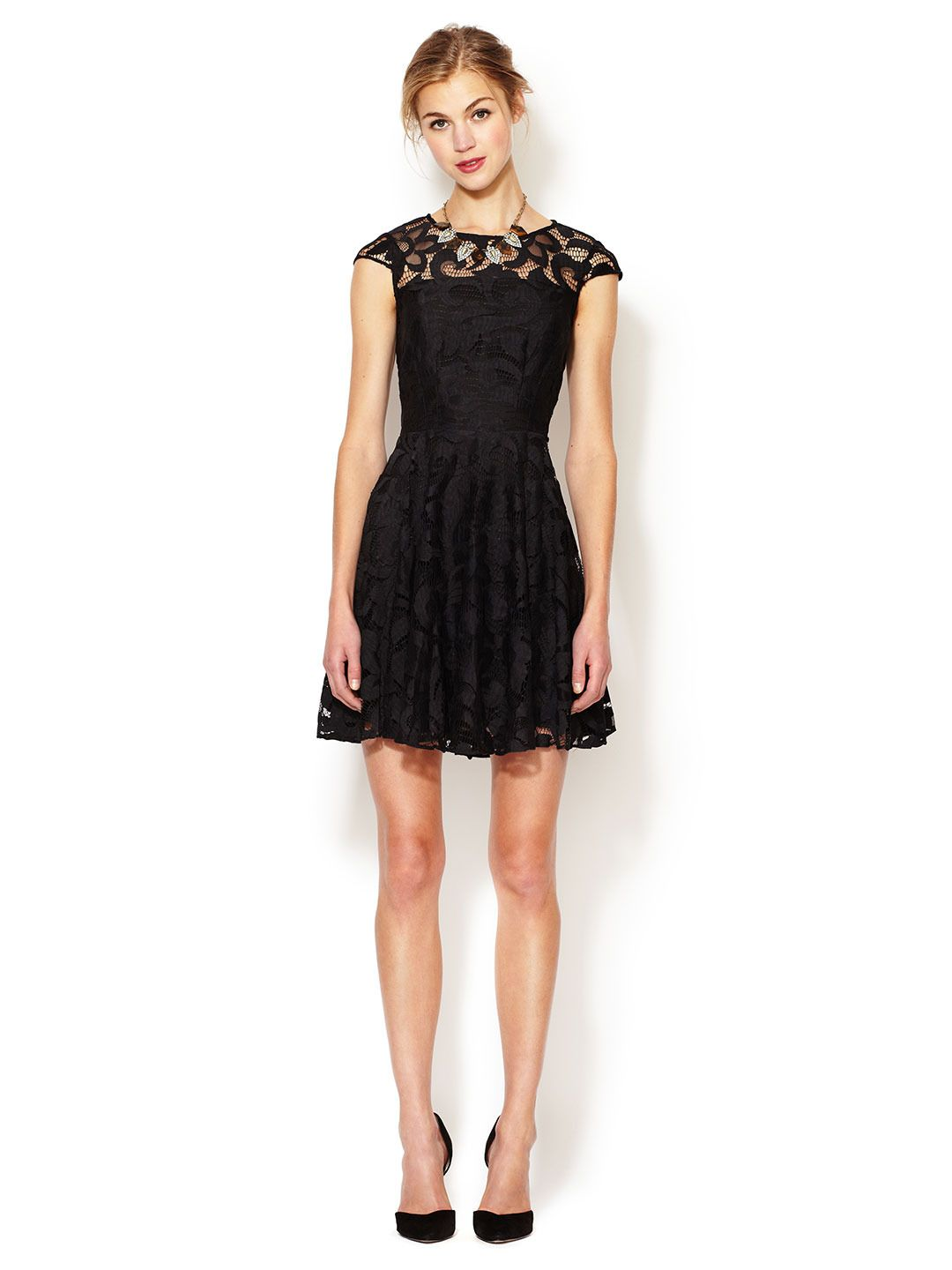 Lace fit and flare dress by the letter at gilt dresses i want