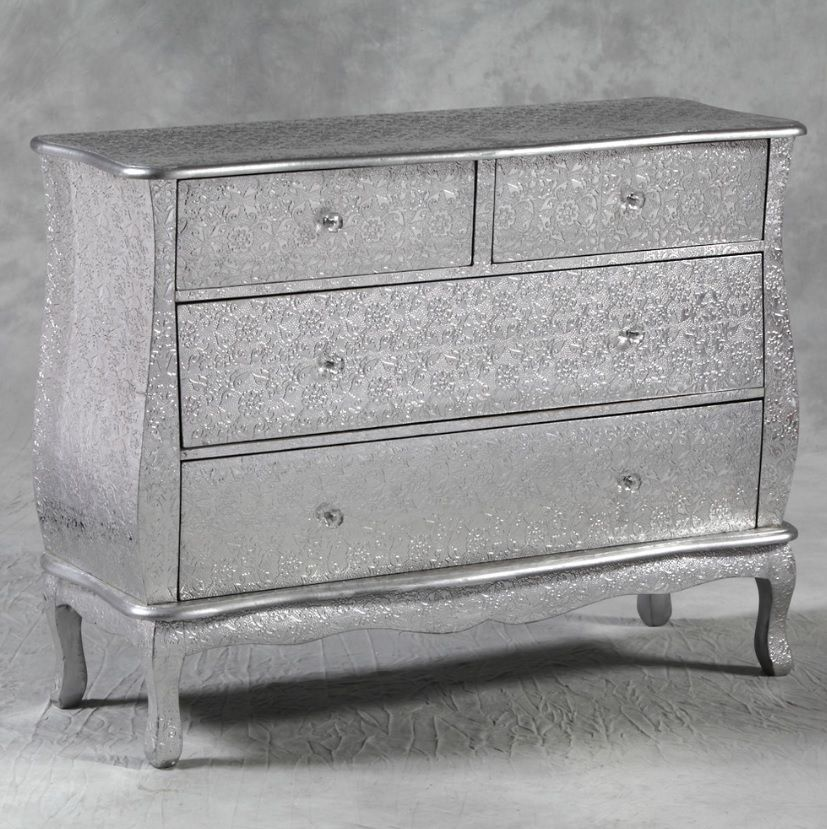 Best Silver Embossed Large 2 Over 2 Chest Of Drawers Dbw76 Size 400 x 300