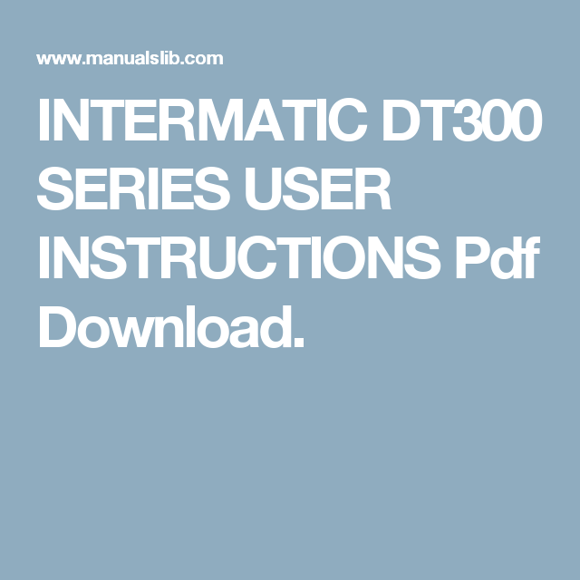 intermatic dt300 series user instructions pdf download i like rh pinterest com