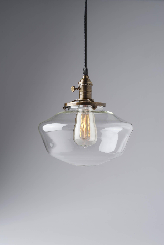 10 Clear Glass Globe Schoolhouse Pendant Light Fixture Dining