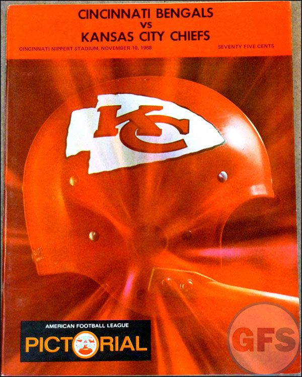 Afl Game Program Cincinnati Bengals Vs Kansas City Chiefs