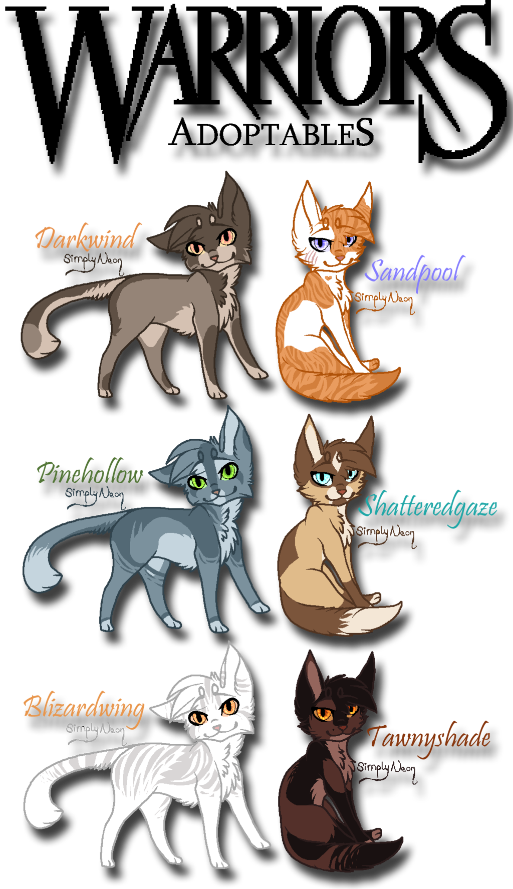 Warrior Cat Adoptables 1/4 by