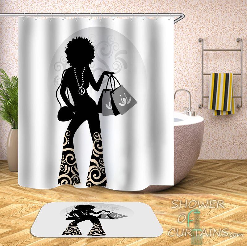 Retro Chic Lady Shower Curtain - HXTC0842