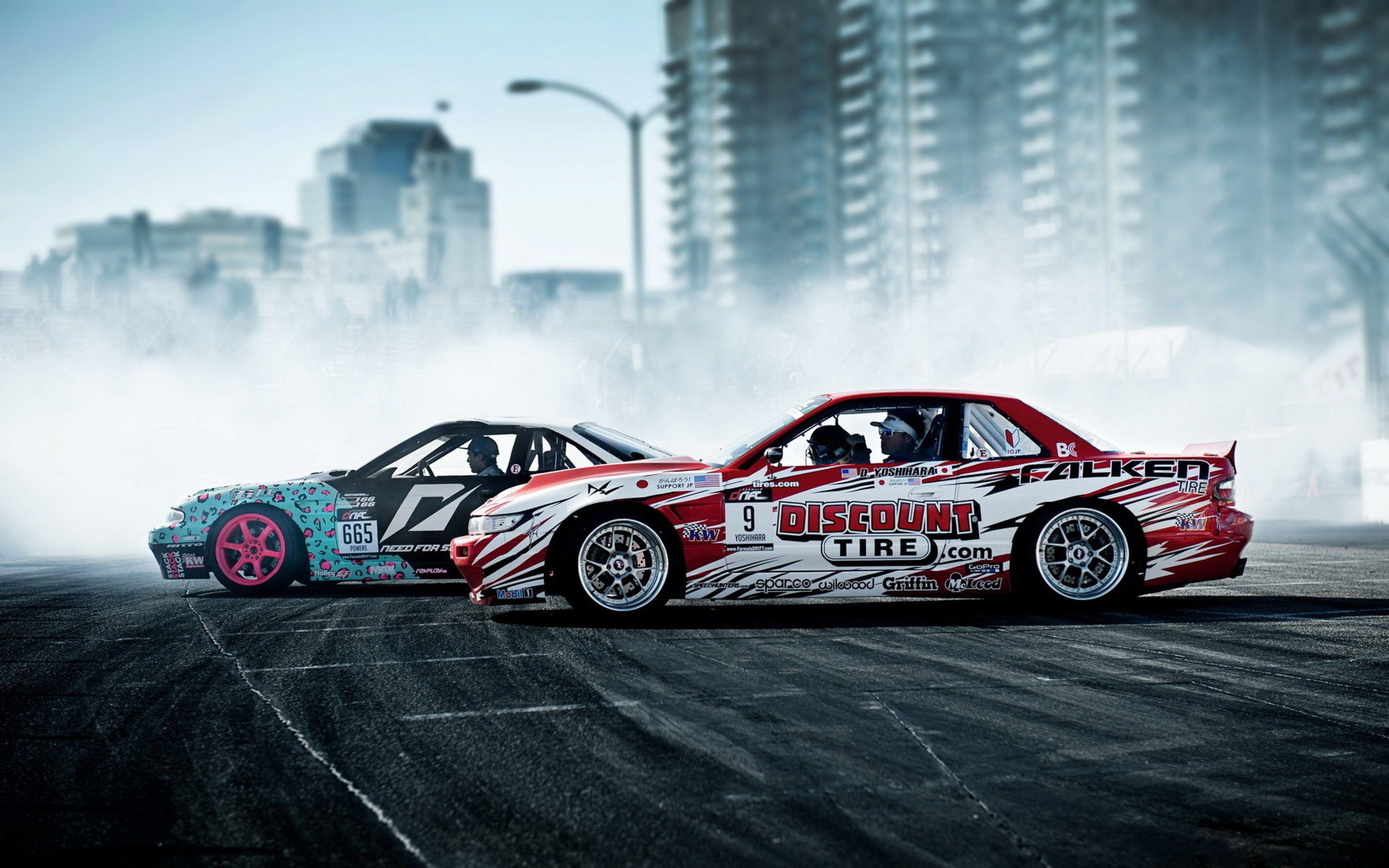 3840x2400 Wallpaper Drift Nissan Sport Cars Smoke