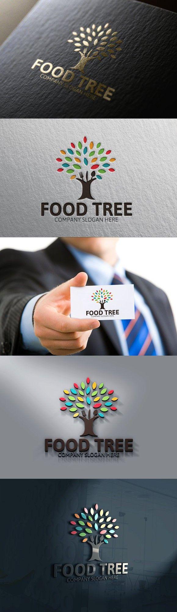 Food Tree Logo Tree logos, Logos, Tree