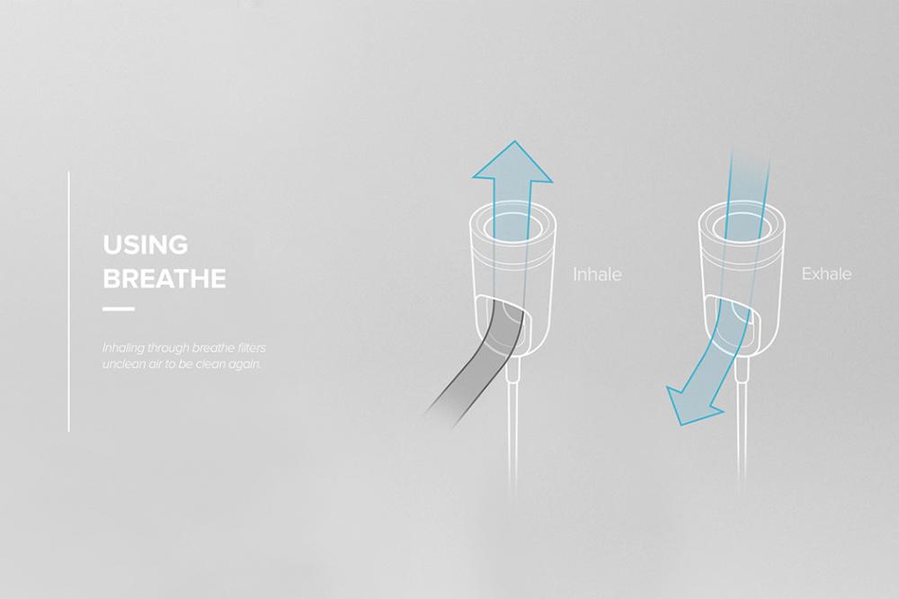 An air purifier you can wear as a necklace! Yanko Design