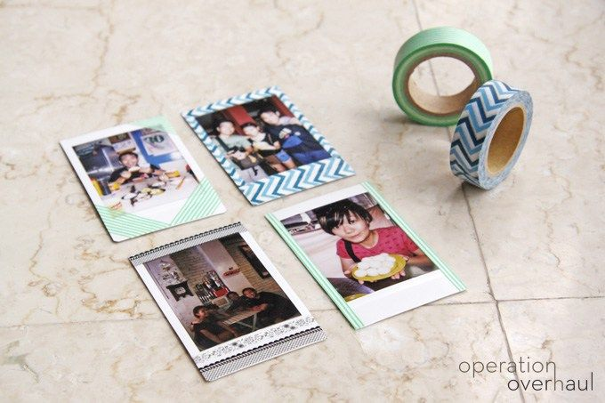 Decorate Polaroid Pictures With Washi Tape To Add A Fun Design