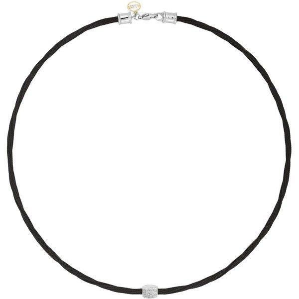 Alor Diamond Black Cable Choker Necklace, 17 (3,525 SAR) ❤ liked on Polyvore featuring jewelry, necklaces, diamond choker, diamond jewelry, cable jewelry, diamond jewellery and diamond necklace