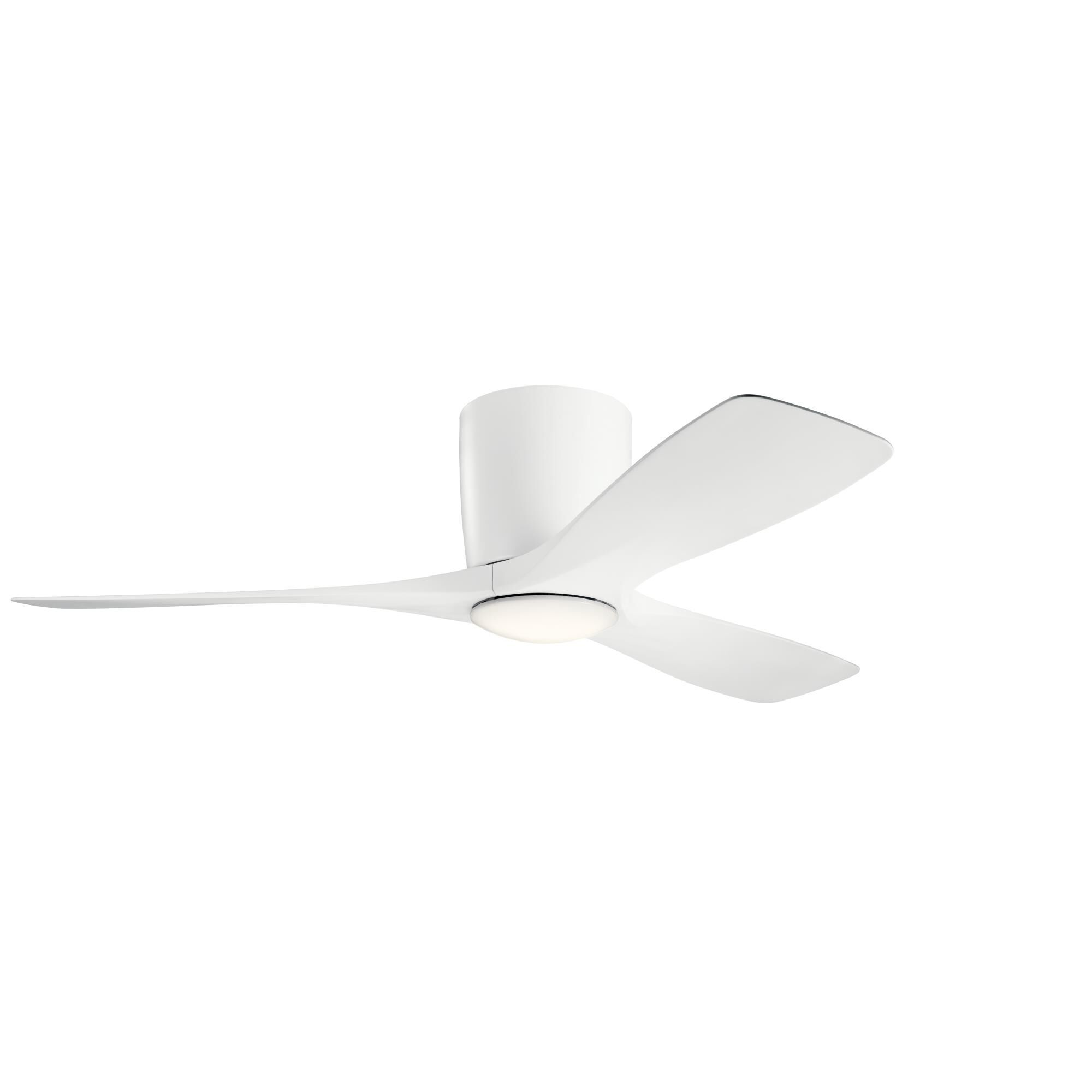 Kichler Lighting Volos 48 Inch Flush Mount Fan With Light Kit Volos 300032mwh Modern Contemporary Led Ceiling Fan Flush Mount Ceiling Fan Ceiling Fan