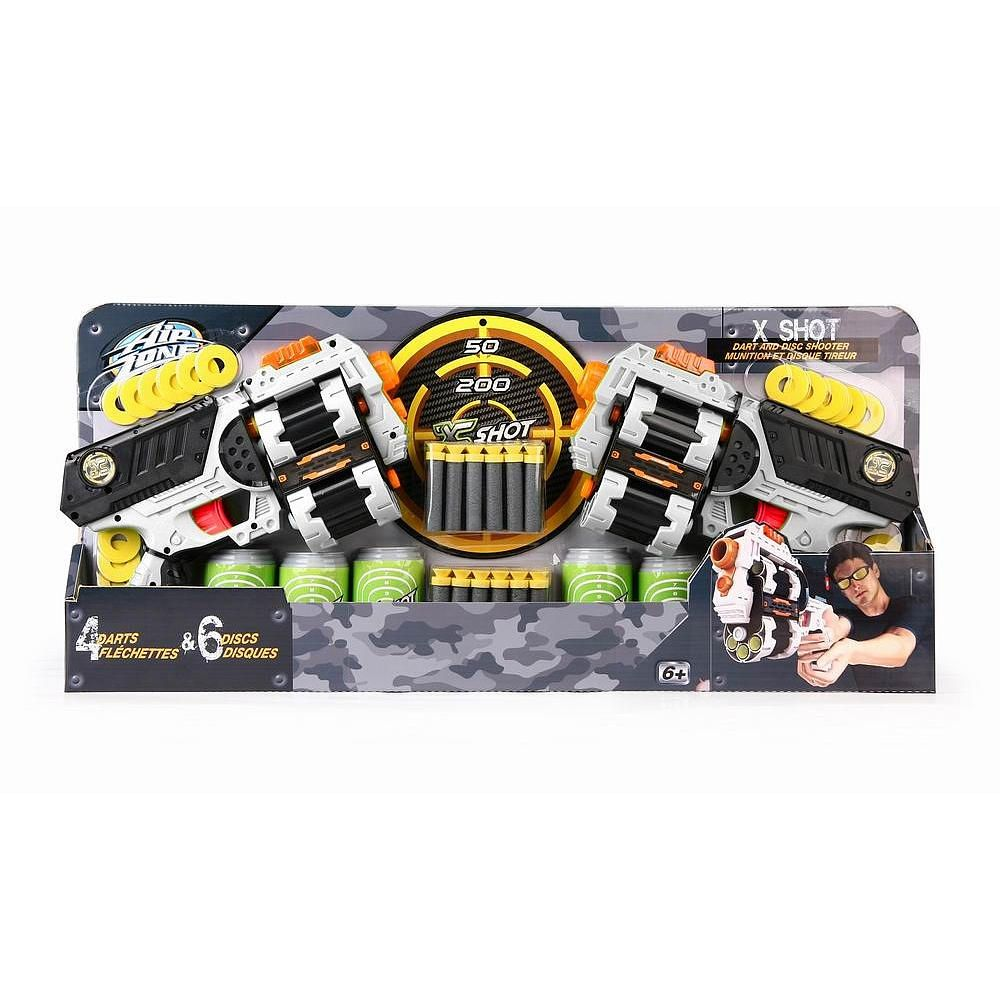 Nerf Target Toys For Boys : Air zone xcess double pack cans target discs