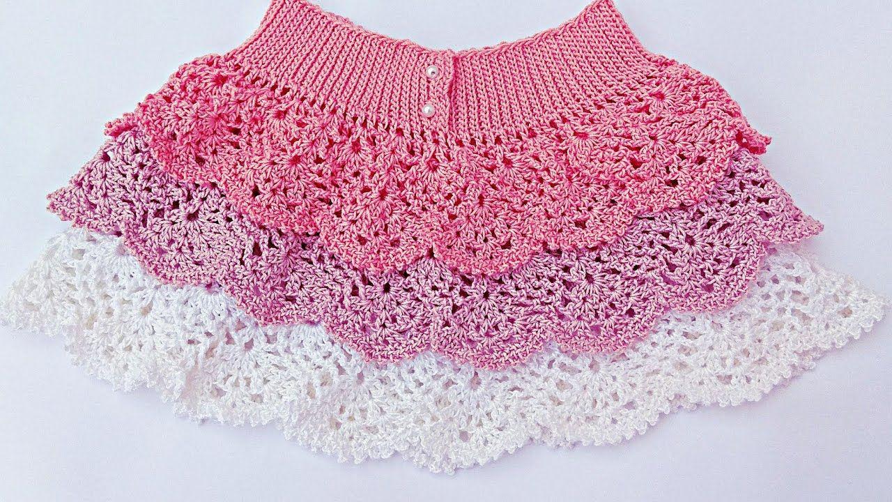 Falda de volantes de piñas a crochet. Muy fácil . Majovel crochet ...