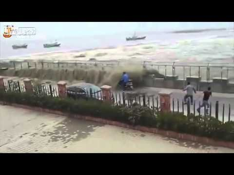 Is A Hugh Tsunami Takeout on Pedestrian - YouTube