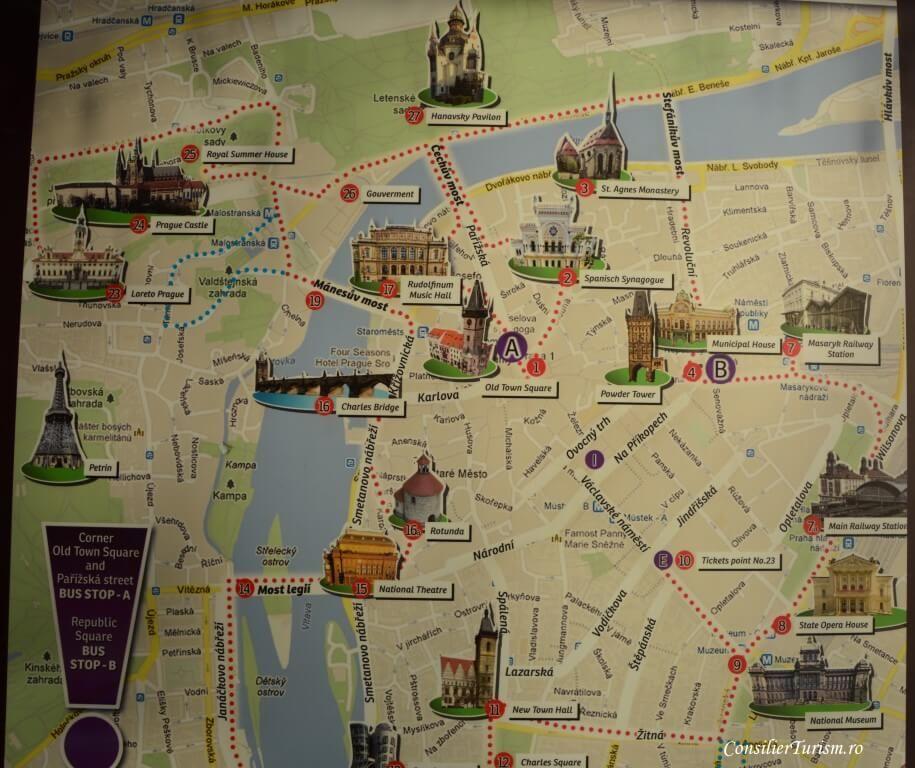 Harta Obiective Turistice Praga With Images Hartă