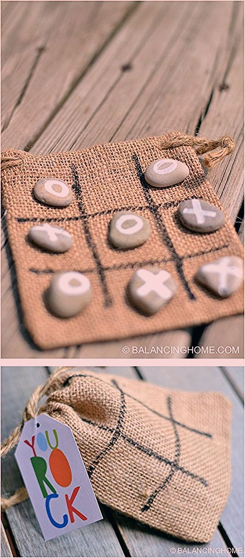 Tic Tac Toe Rocks Activity or Gift - Balancing Home