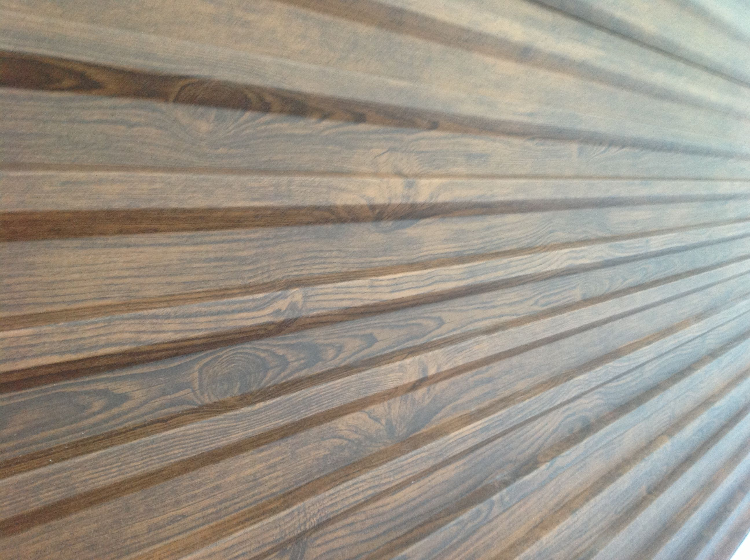 metal siding with wood grain finish