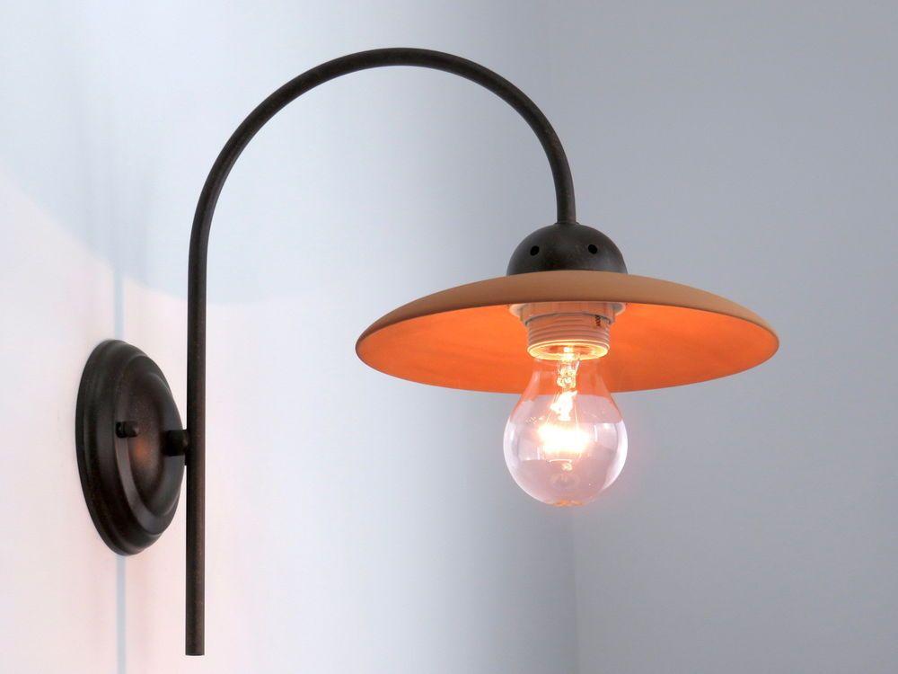 Applique Da Bagno Classico : Applique lampada parete classico rustico country ceramica cotto