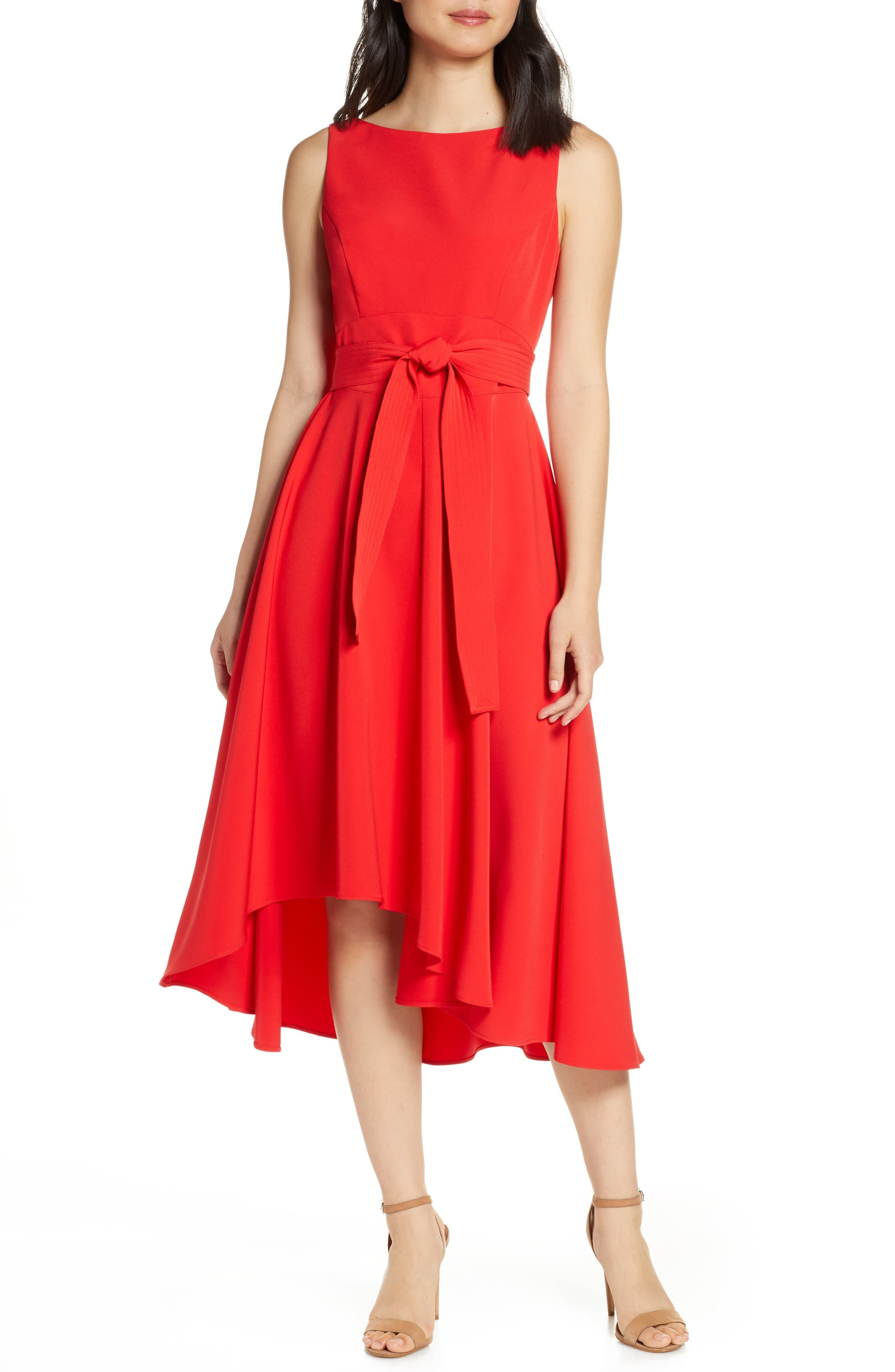Women S Vince Camuto Crepe Asymmetrical Midi Dress Size 2 Red In 2019 Products Dresses Nordstrom Dresses Asymmetrical Dress