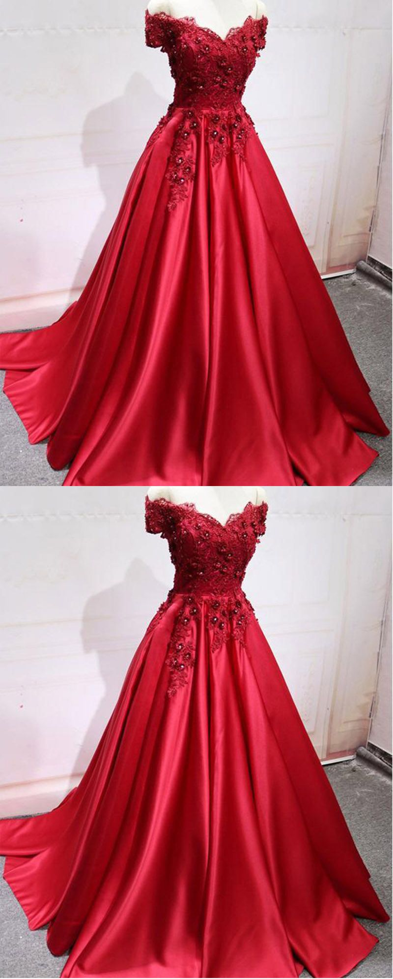 80f516bb1 Red Wedding Dress Ball Gown Reception Women Formal Evening Party ...