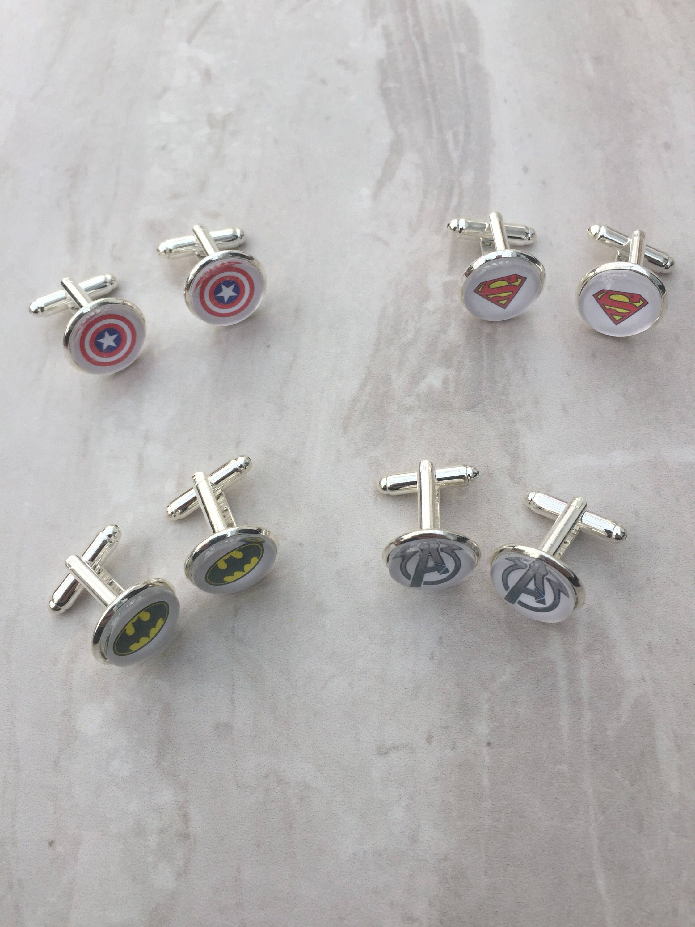 Superhero cufflinks, comic themed cufflinks, fashion cufflinks ...
