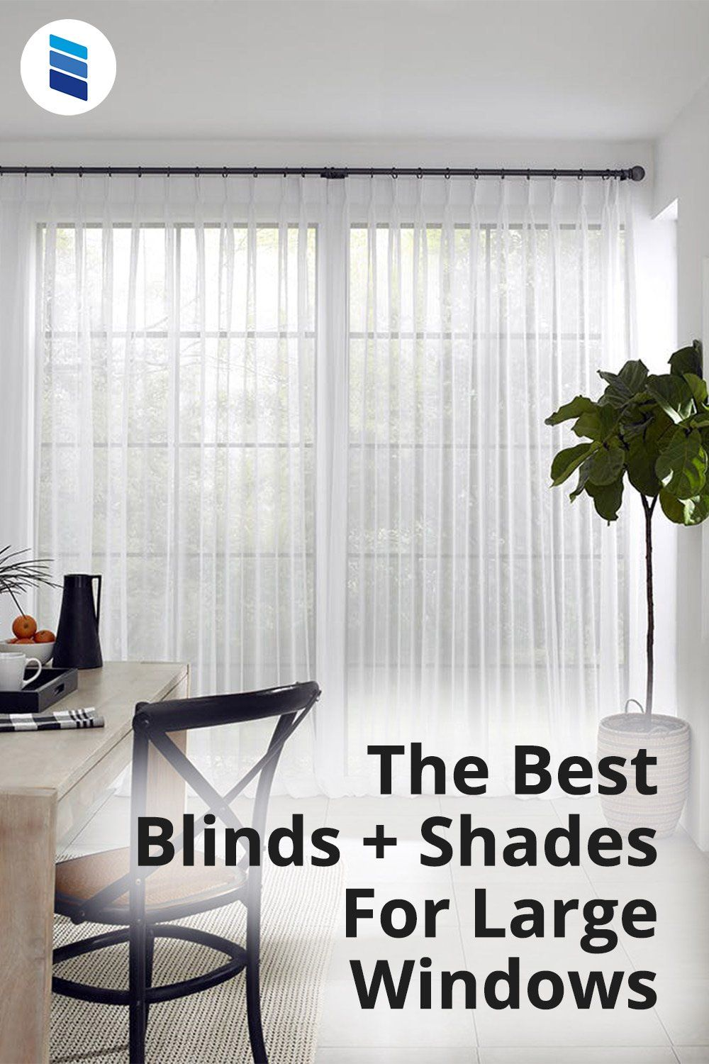 The Best Window Treatments For Large Windows Blinds Com In 2021 Large Windows Large Window Treatments Best Blinds