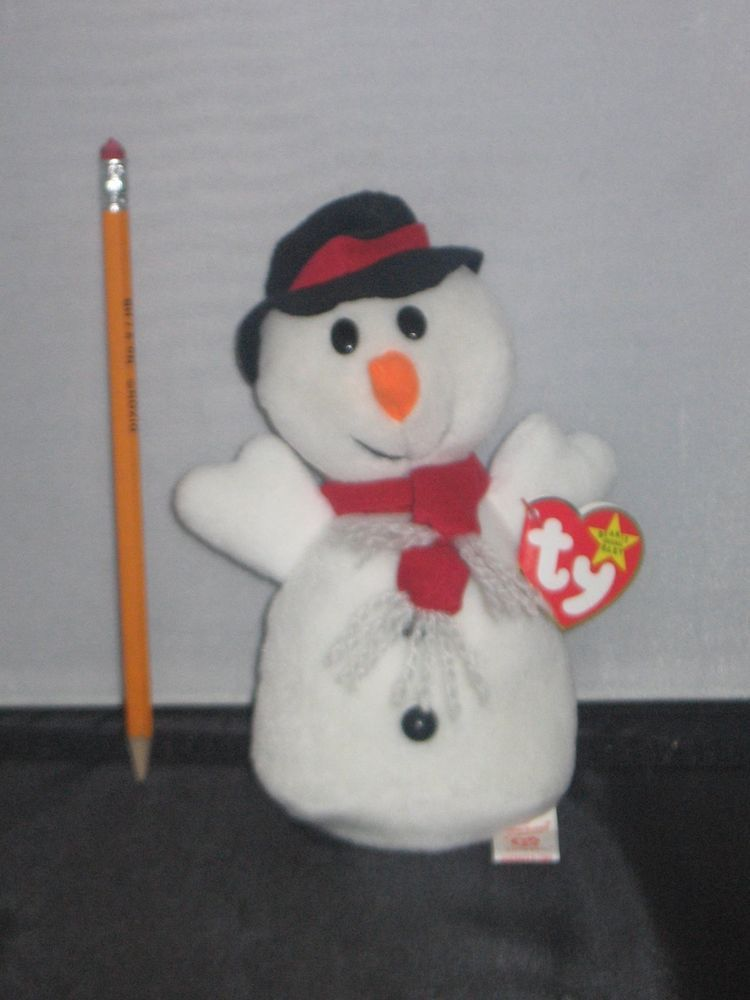 TY Beanie Baby - MWMTs 7.5 inch SNOWBALL the Snowman 4th Gen hang tag