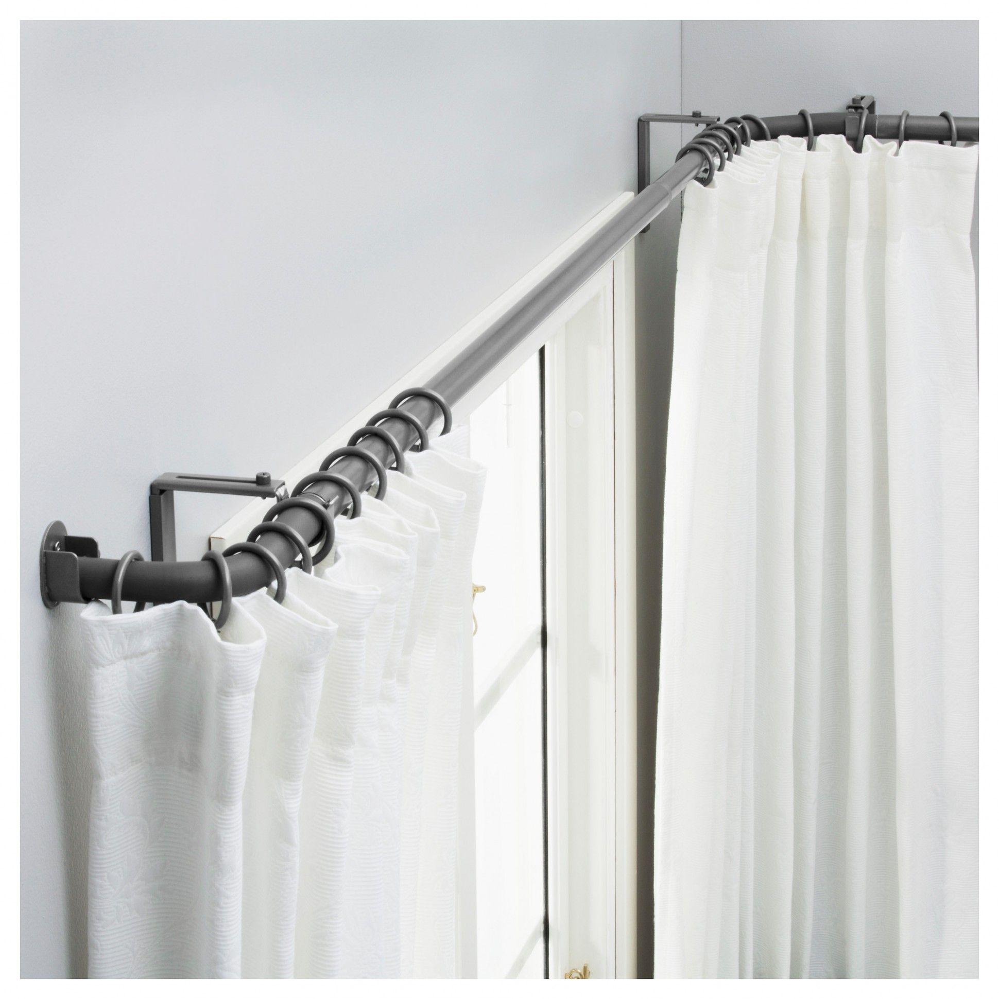Ikea Bathroom Window Curtains In 2020 Corner Curtains Corner Window Curtains Corner Curtain Rod Wrap around shower curtain rod