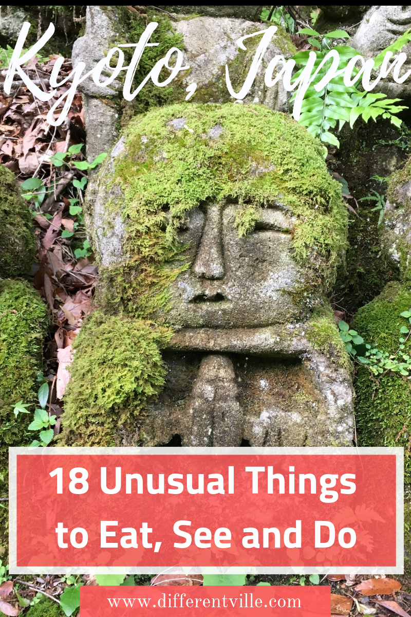 There's a lot to see in Kyoto, Japan - but what if you want to find a few non-touristy places to visit in Kyoto. Our Kyoto travel guide is full of more unusual or lesser known things to do in Kyoto. Click to read it now or save it to your Kyoto or Japan boards until later. #kyoto #thingstodoinkyoto #kyototravelguide #kyototrip