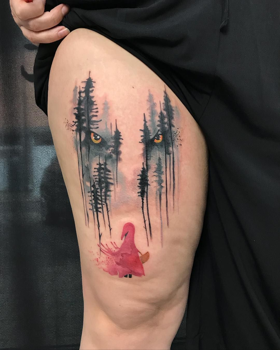 Little red riding hood tattoo by rafiki tattoo tattoo for Red wolf tattoo
