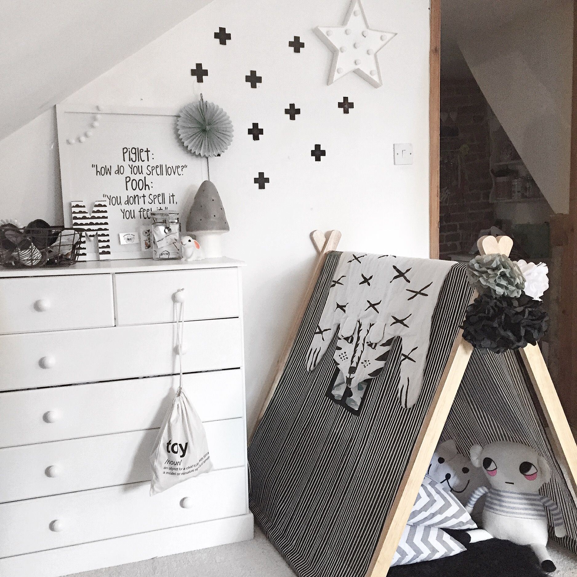 Monochrome nursery #monochrome #monochromeliving