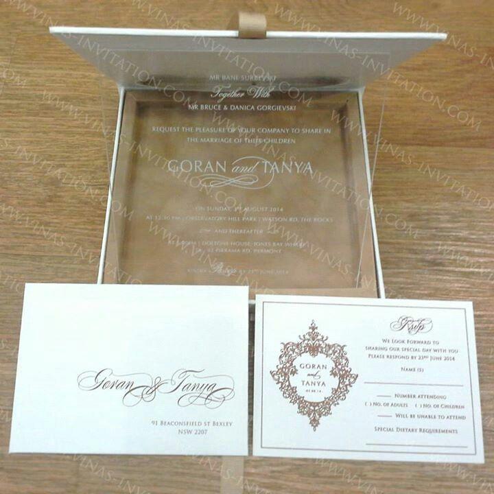 Vinas Invitation Acrylic Invitation Clear Perspex