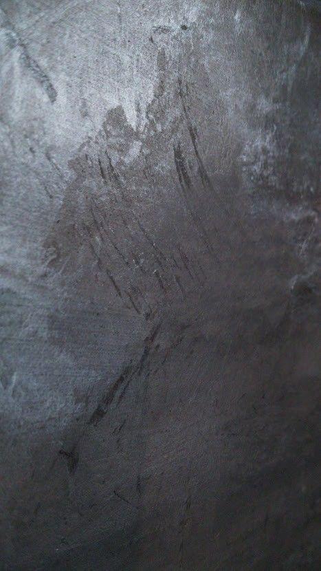 Détail d\u0027un STUC Argile Matières - Gris Canon Peinture stuquée - peinture epaisse pour mur
