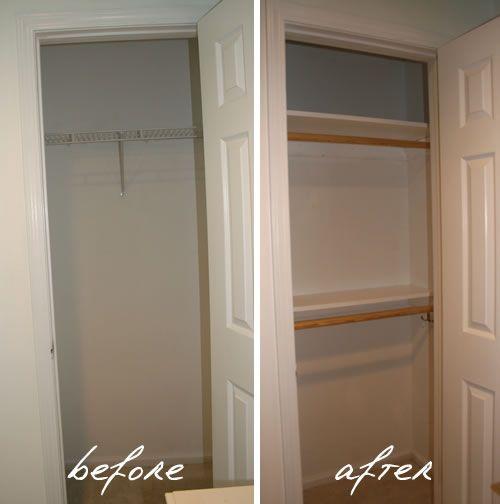 Improving Small Closet Functionality Closet Small Bedroom