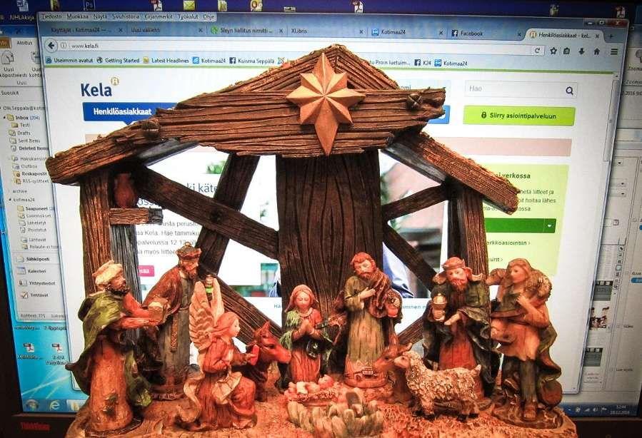 Jouluevankeliumi virastosuomeksi *** Jouluseimi ja näyttöpääte