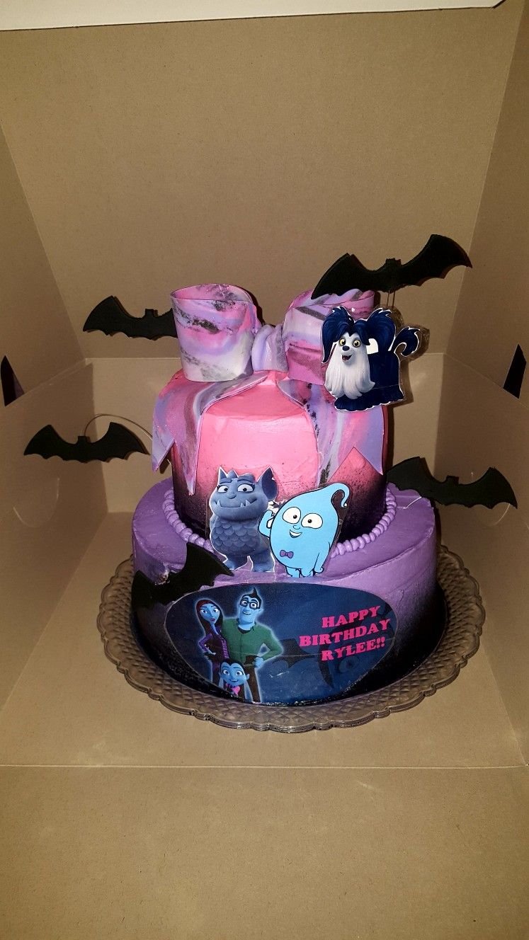 Disneys Vampirina Themed Birthday Cake My Work Pinterest