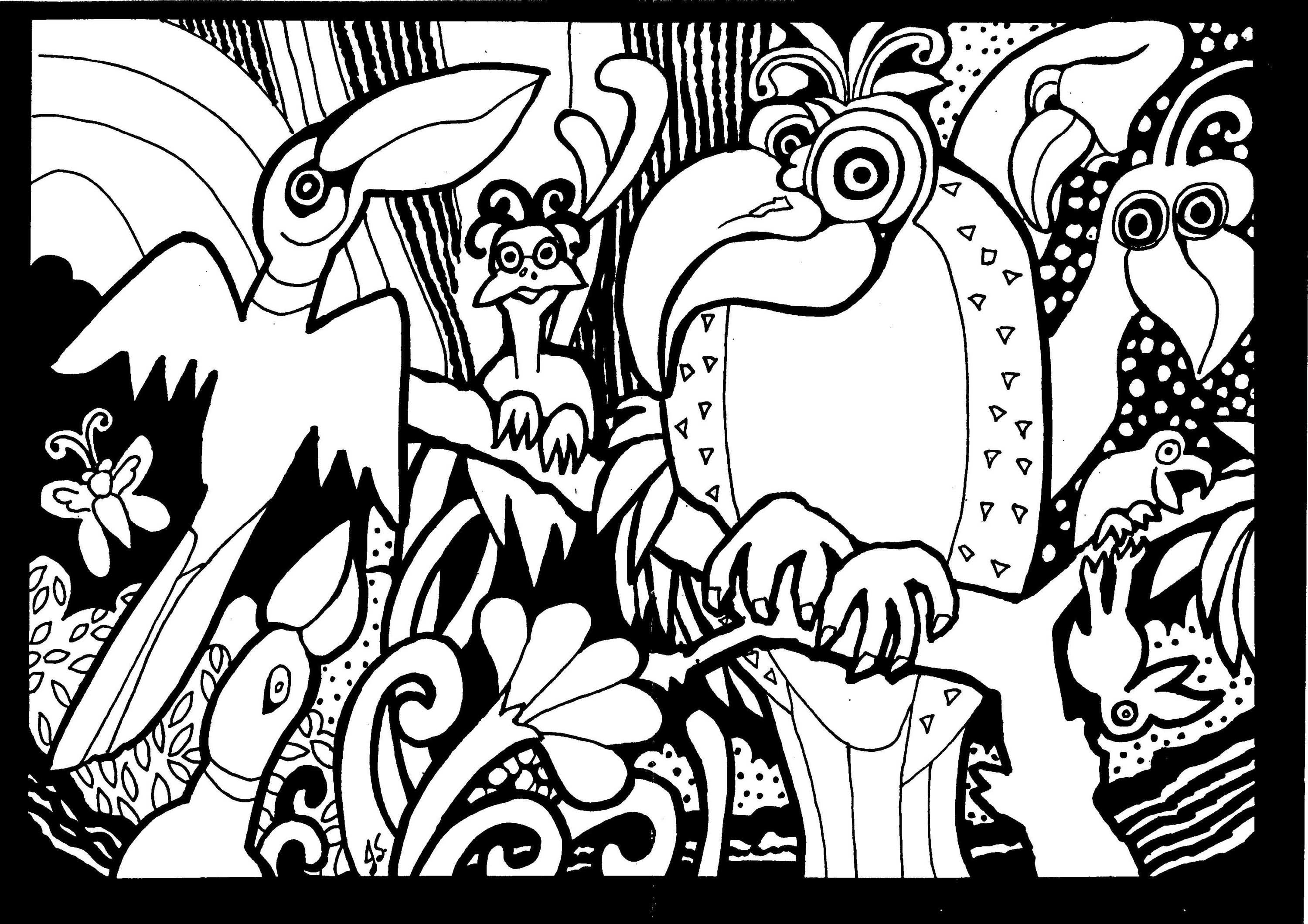 Africa Coloring Pages For Adults Kleurplaten Vogels Natuur