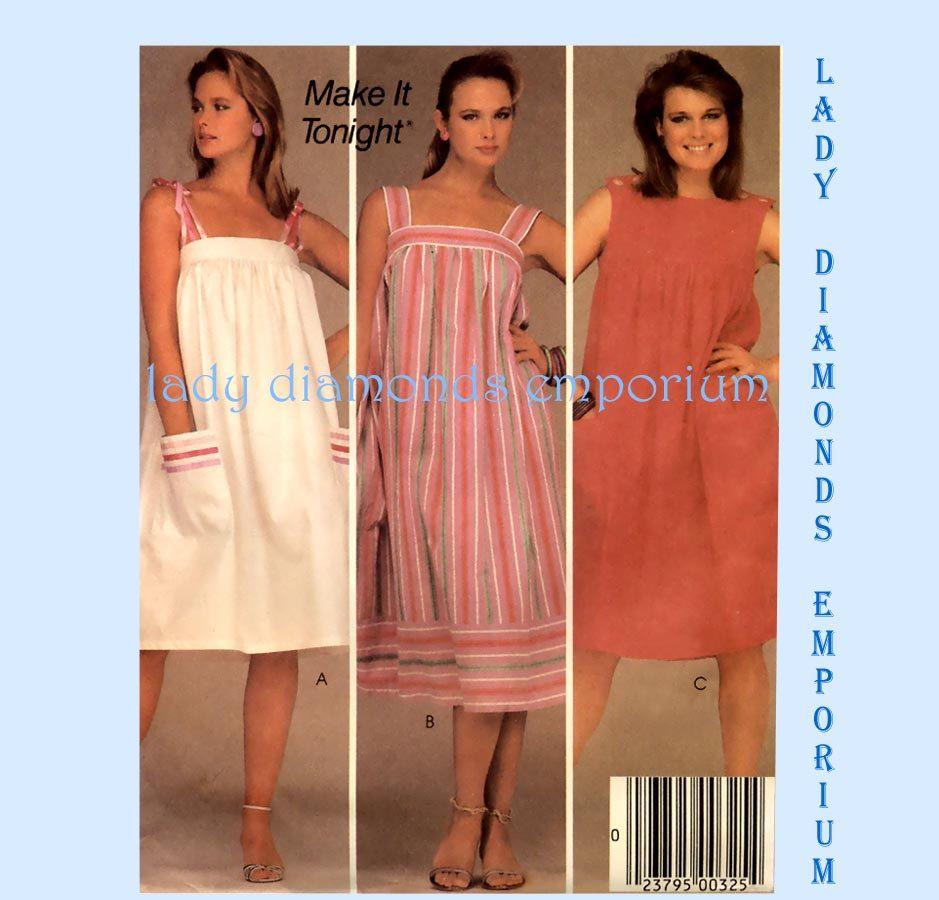 b5d7726f4cd41 McCalls 9000 Womens Plus Size Babydoll Dress Sundress Housedress Muu Muu  Tent Dress size 18 20 Bust 40 42 Easy 80s Sewing Pattern Uncut by  ladydiamond46 on ...