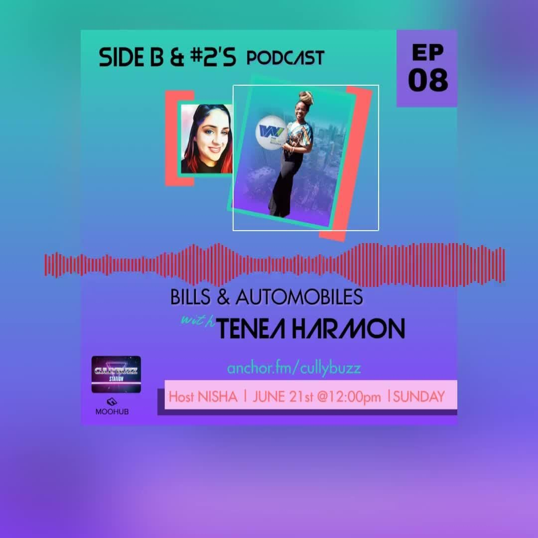 Tomorrow's episode features the fabulous entrepreneur Tenea from wealth builders It's a fun one. Be sure to Tune in 😉🎧  Visit our Bio and click on this flyer to catch up. #moohub #womenpower #cullybuzz #educator #episodeeight #sidebandnumber2s #opportunity #bills #automobiles #business #inspiration #podcasting #podcasts #startup #juneteenth #creative #creativity #mycreativebiz #womeninbusiness #creativepreneur #blkcreatives
