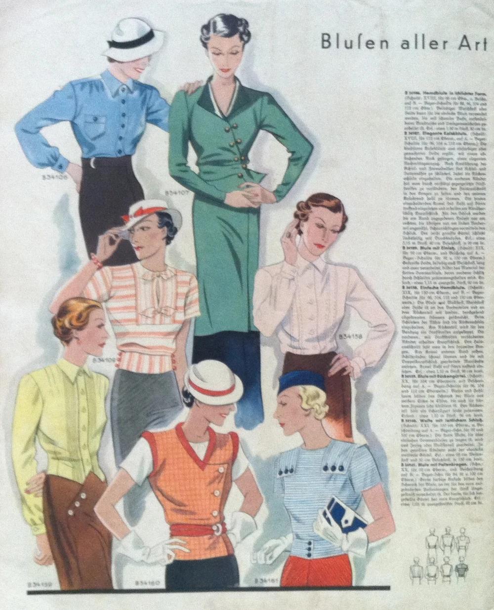 Deutsche ModenZeitung No. 18 Vol. 43 1933/34 (With images