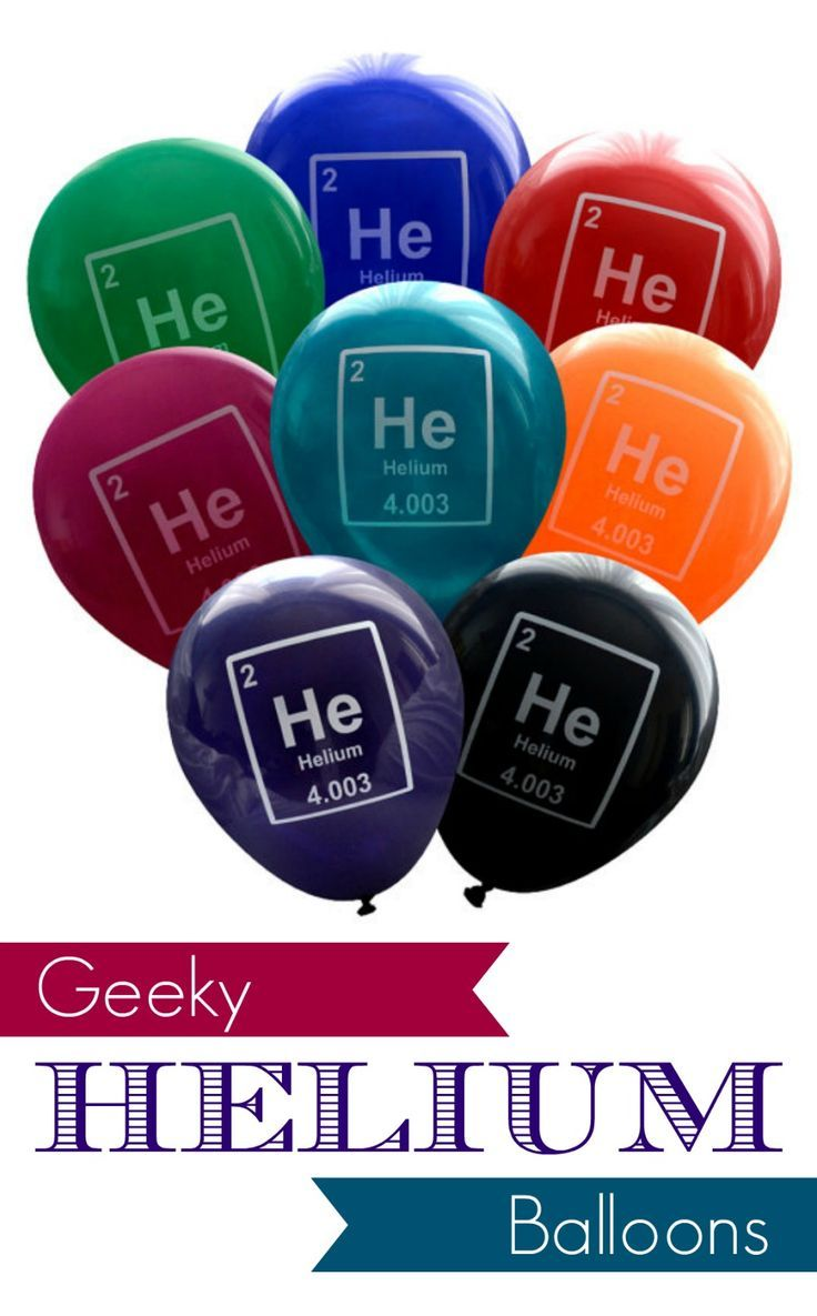 Helium balloons from the periodic table of elements activities helium balloons from the periodic table of elements urtaz Image collections