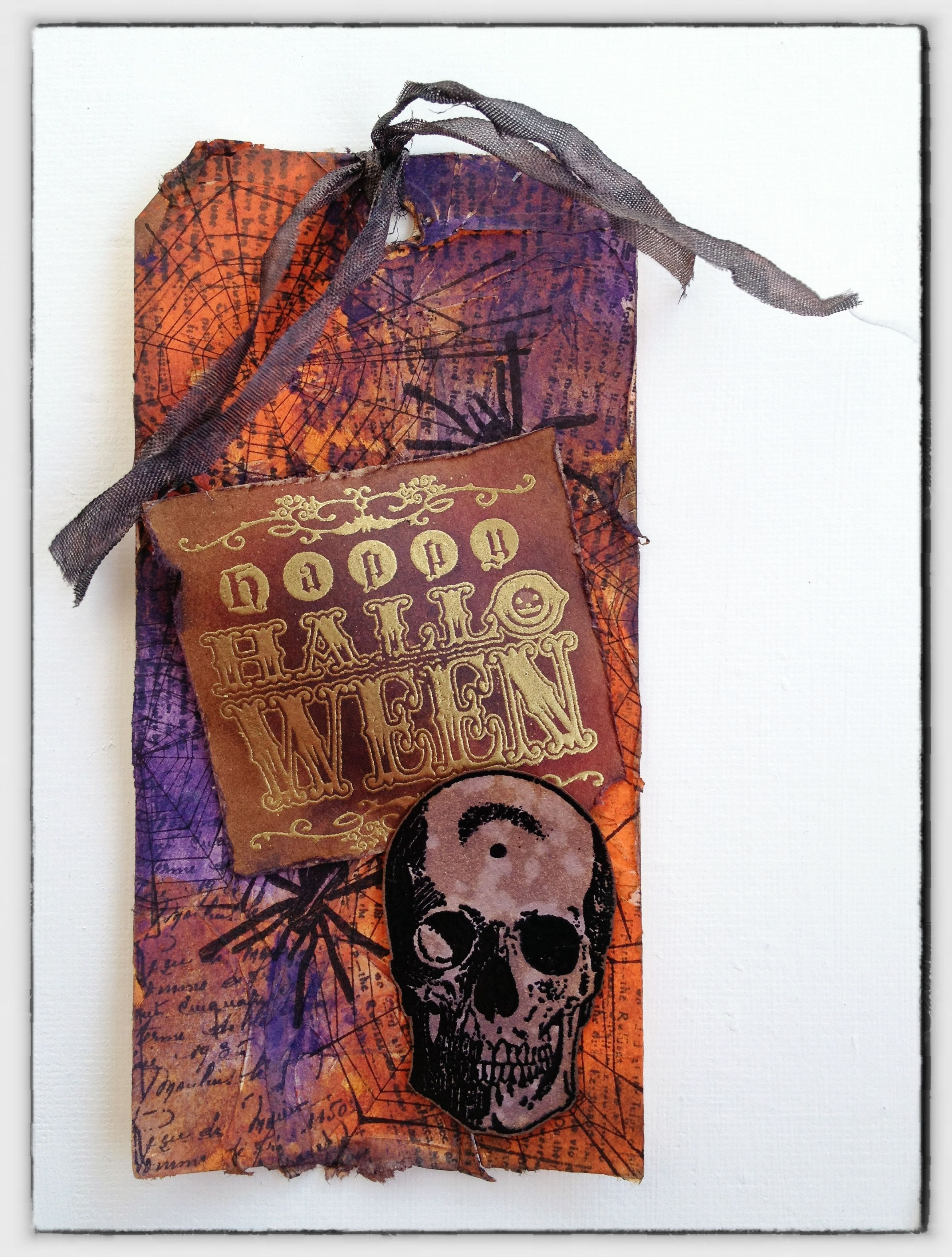 my version of Tim Holtz's OCTOBER 2012 tag... - Scrapbook.com