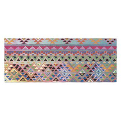 Nika Martinez Tribal Native Bed Runner by Kess InHouse - MM1030ABR01