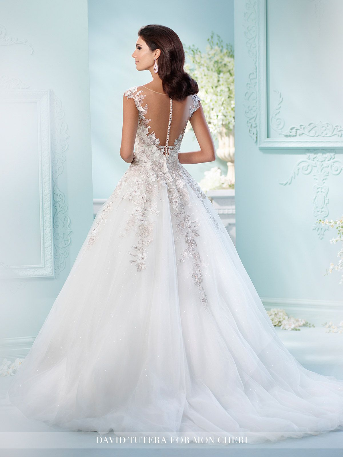 Sequin tulle embroidered lace ball gown wedding dress 216238 jay david tutera for mon cheri 216238 jay tulle sequin tulle organza and hand beaded metallic embroidered schiffli lace appliqus over satin ball gown junglespirit Images