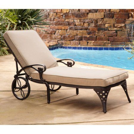 outdoor chaise lounge chair with ottoman aeron adjust arms home styles biscayne cushion walmart com